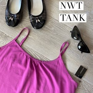 NWT LANE BRYANT Hot Pink Fuchsia Tank Top
